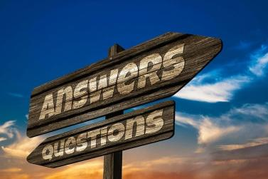 Answers and questions sign