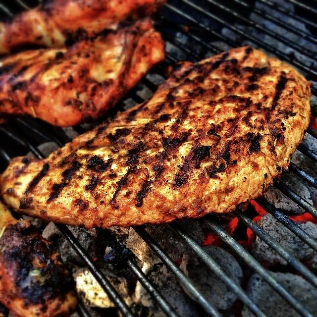 Steak on grill