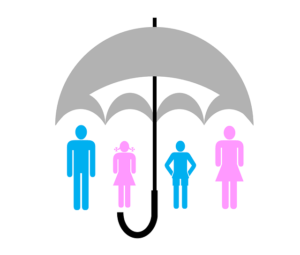 Umbrella with Family