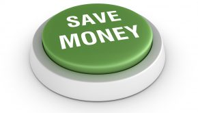Save Money Button - Green