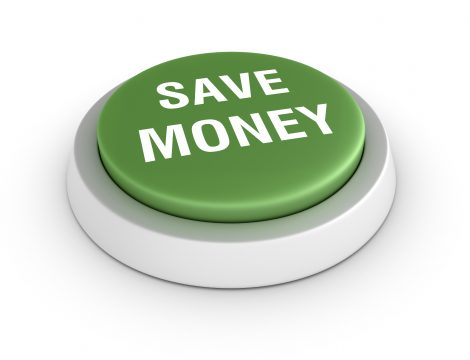 Save Money Button - Green