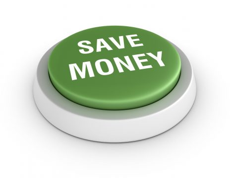 Save Money Button - Employee Insurance Satisfactions with Company Benefits