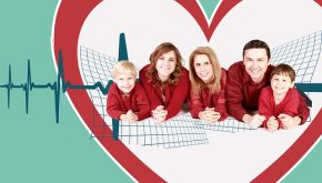 Family in Heart Shape