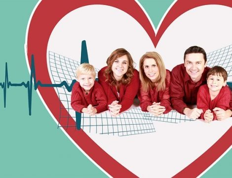 life insurance Family in Heart Shape