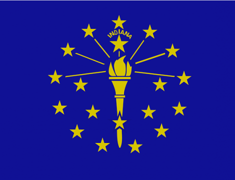 Indiana Gold Blue Flag