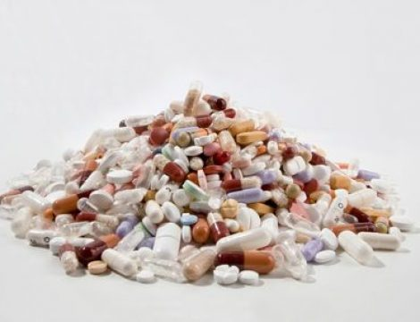 Large pile of pills