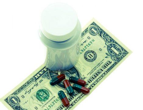 Prescription Rx on a one dollar bill
